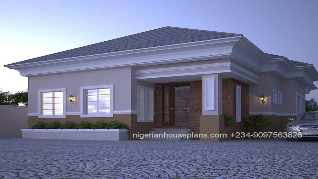 4 Bedroom Bungalow House Design In Nigeria