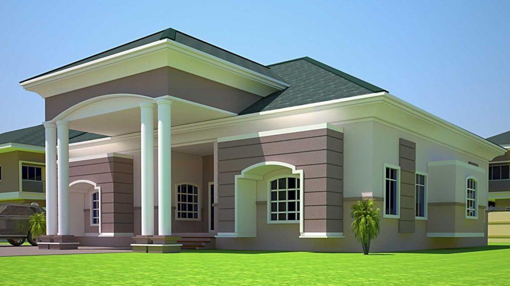 4 Bedroom Bungalow House Design In Nigeria.