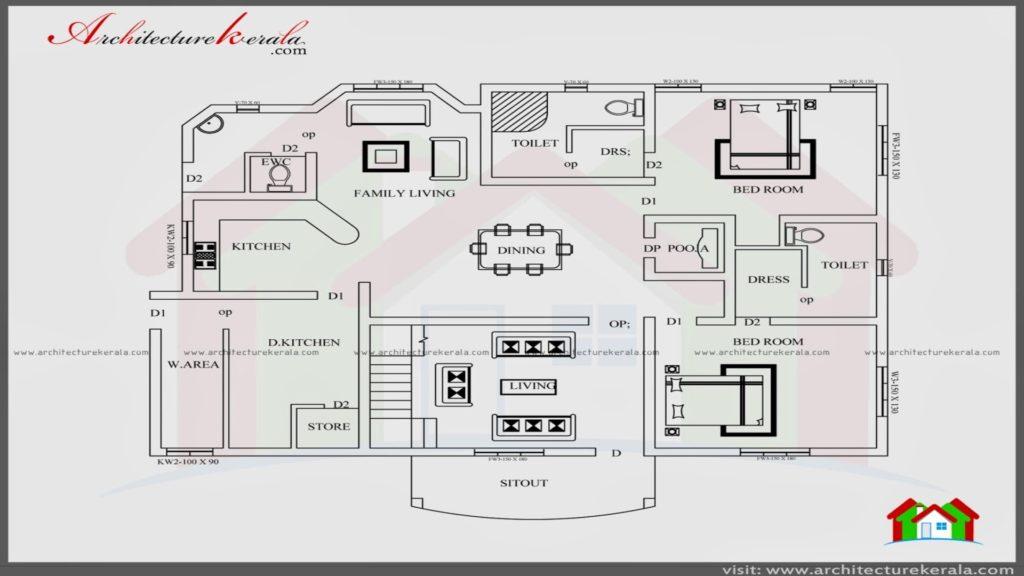 4 bedroom house plans kerala style architect